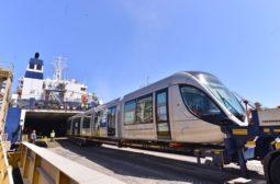Arrivée des deux premières rames du tramway Citadis – Alstom destiné au réseau de tramway de Rabat – Salé