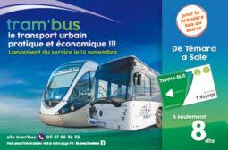 Lancement d'une première opération pilote au Maroc de l'intermodalité en Transport urbain « Tram'Bus »