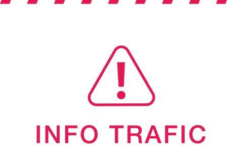 Suspension de la circulation sur la ligne 2 du Tramway entre les stations Médina Rabat et Place de Russie pour raison de travaux de la trémie Bab Lhad.
